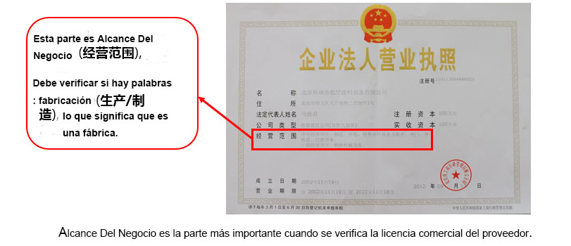la licencia comercial