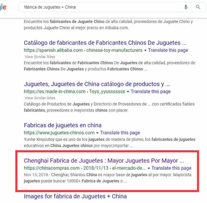 fábrica de Juguetes + China
