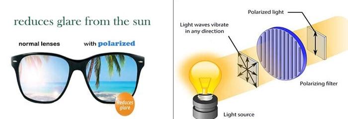 Gafas de sol polarizadas y gafas de sol no polarizadas